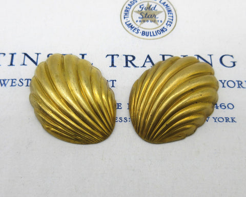Gold Shell Stampings 2 Pcs