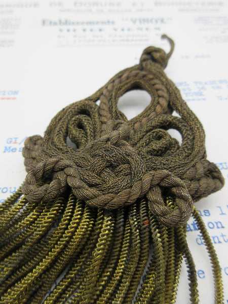 Knotted Cord Top Long Bullion Tassel  12""