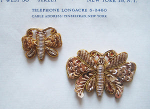 2 Gold Bullion Butterflies
