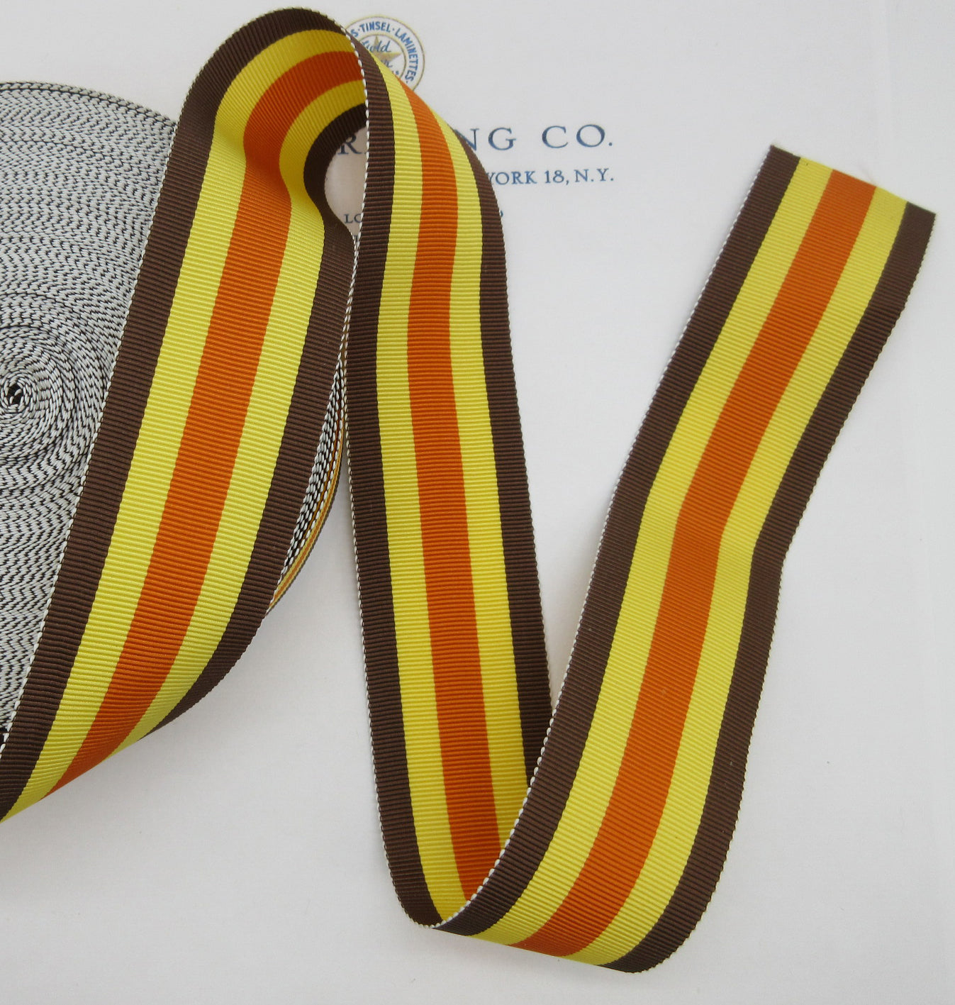"Multi-color Stripe Grosgrain Ribbon  1-1/2"" 3 Yards"