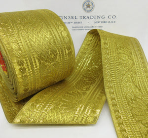 "Wide Gold Metallic Ribbon/Trim 3"" - SALE"