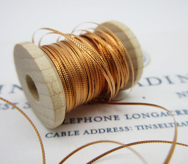 Assorted Antique French Copper Metallic Thread