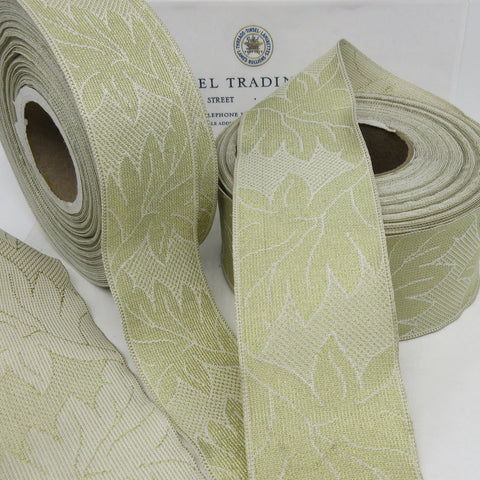 Gold/Cream Leaf Pattern 2 Yards 2 sizes - SALE