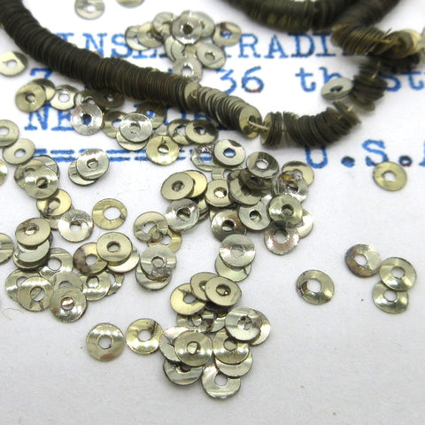 Tiny Silver Metallic Sequins  1 Strand 1000 Pieces