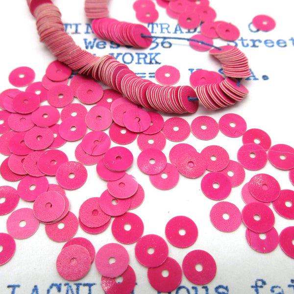 Hot Pink and Blue Flat Sequins 1 Strand 1000 Pieces