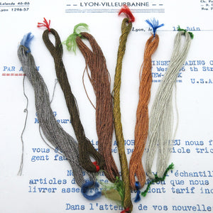 3 ply French Metallic Thread - 6 Colors