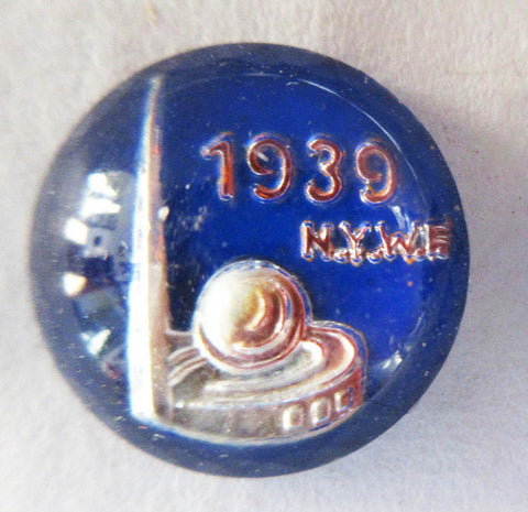 1939 NY Blue World's Fair Cabachon