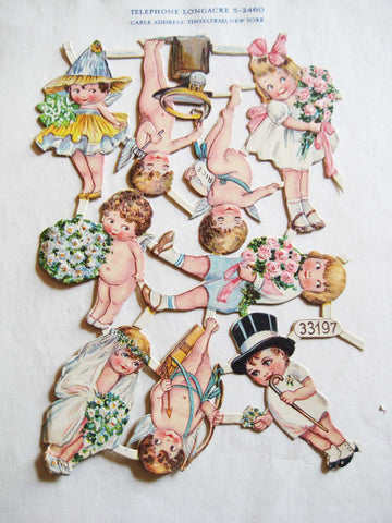 Victorian Cherub Wedding Scrap Sheet