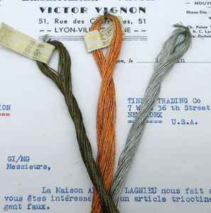 8 ply French Metallic Thread - 3 Colors