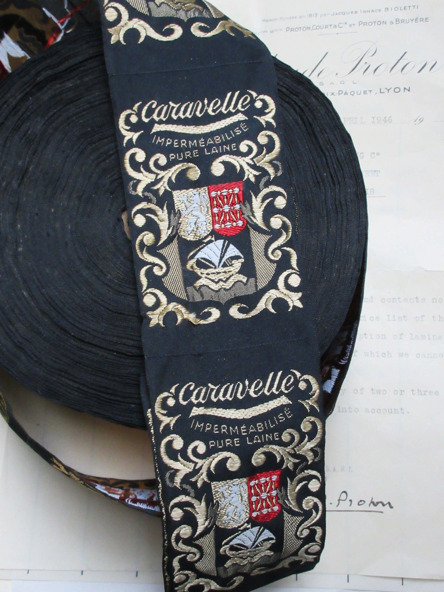 French Woven Labels Caravelle 4 pcs