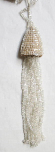 Pr Crystal Beehive Top Beaded Tassel