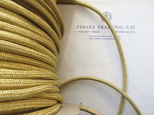 Gold Metallic Tubular Cord