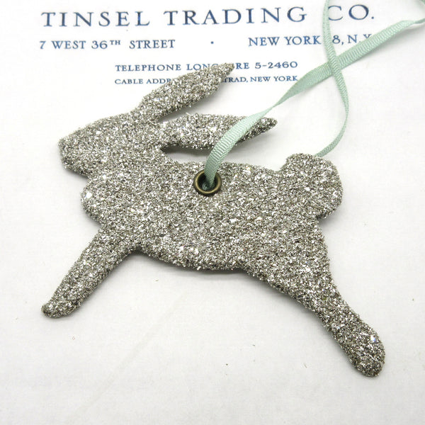 "4"" Running Glitter Bunnies 3 Colors"