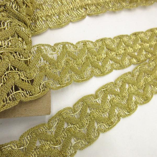 Double Zig Zag Metallic Trim  1 1/4""