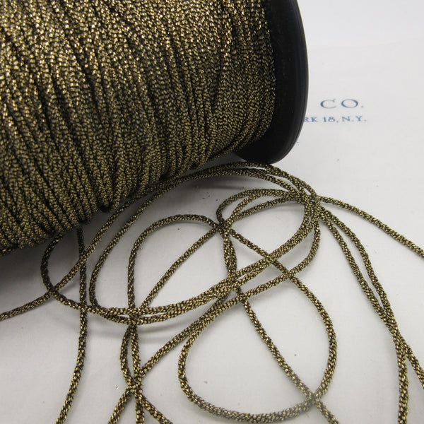 "Gold Silver Metallic Cord  3/32"" 3 Yards"