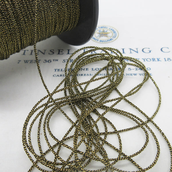 "Gold Silver Small Metallic Cord 1/16"" 3 Yards"