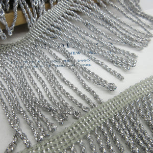 Silver Metallic Twist Fringe 3""