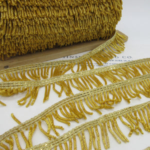 Gold Metallic Bullion Fringe - 2 sizes