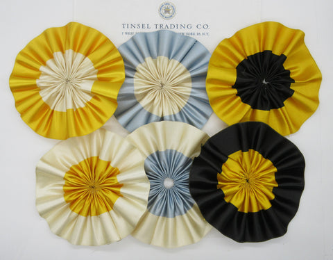 "Ribbon Cockades/Rosettes 5""  - Multiple Colors"