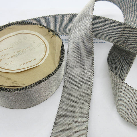 Dark Silver Metallic Ribbon 1""