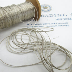 Fine Silver Metallic Braided Mesh Twine  3 Yards
