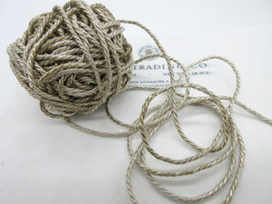 2 Yards Silver Metallic Cord 1/8""