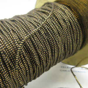 "Round Dark Gold Metallic Twine 1/16"" 4 Yards"