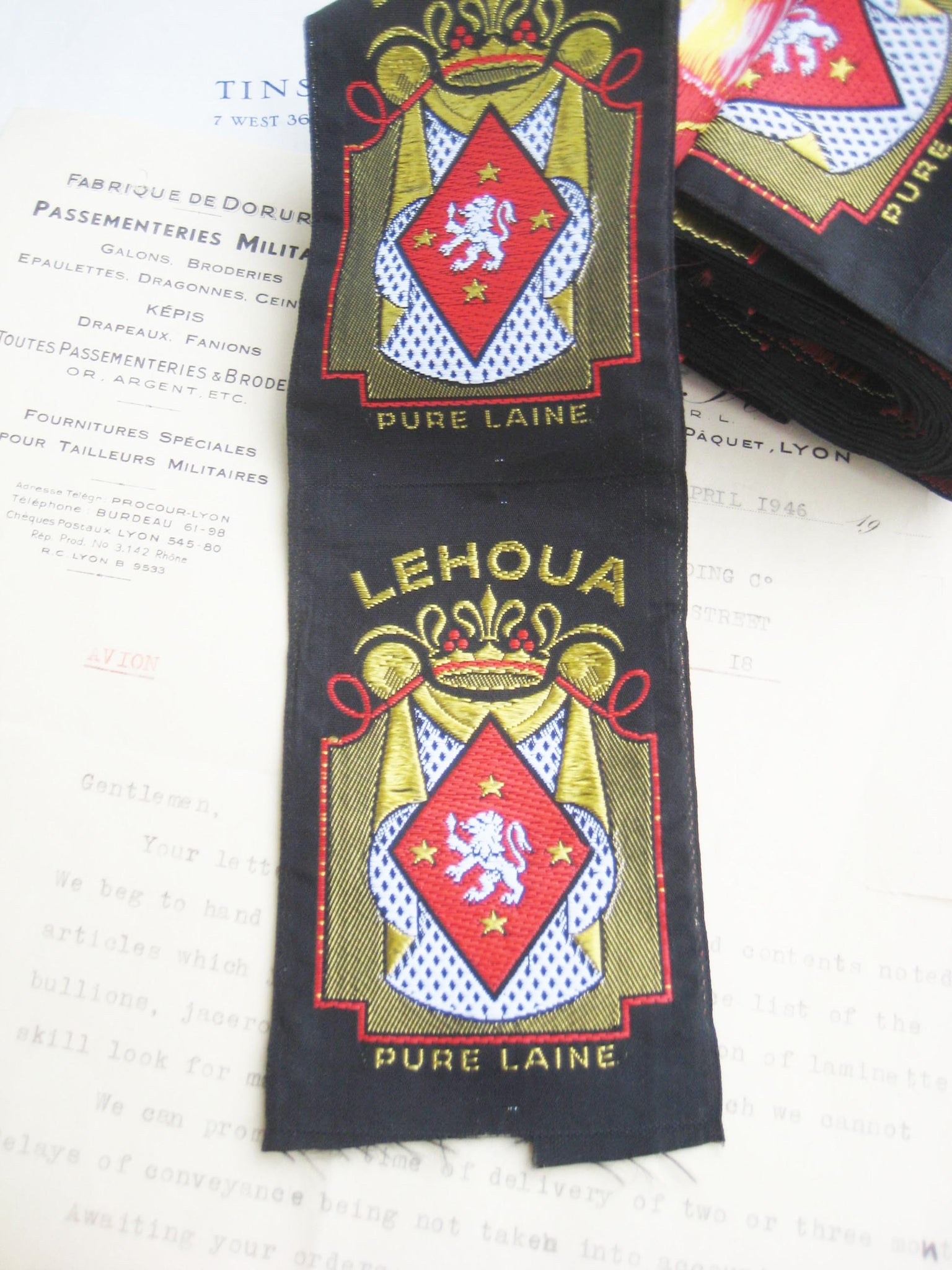 French Woven Labels Lehoua 4 pcs