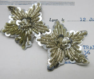 Gold and Silver Bullion, Sequin 5 Point Stars - 2 sizes