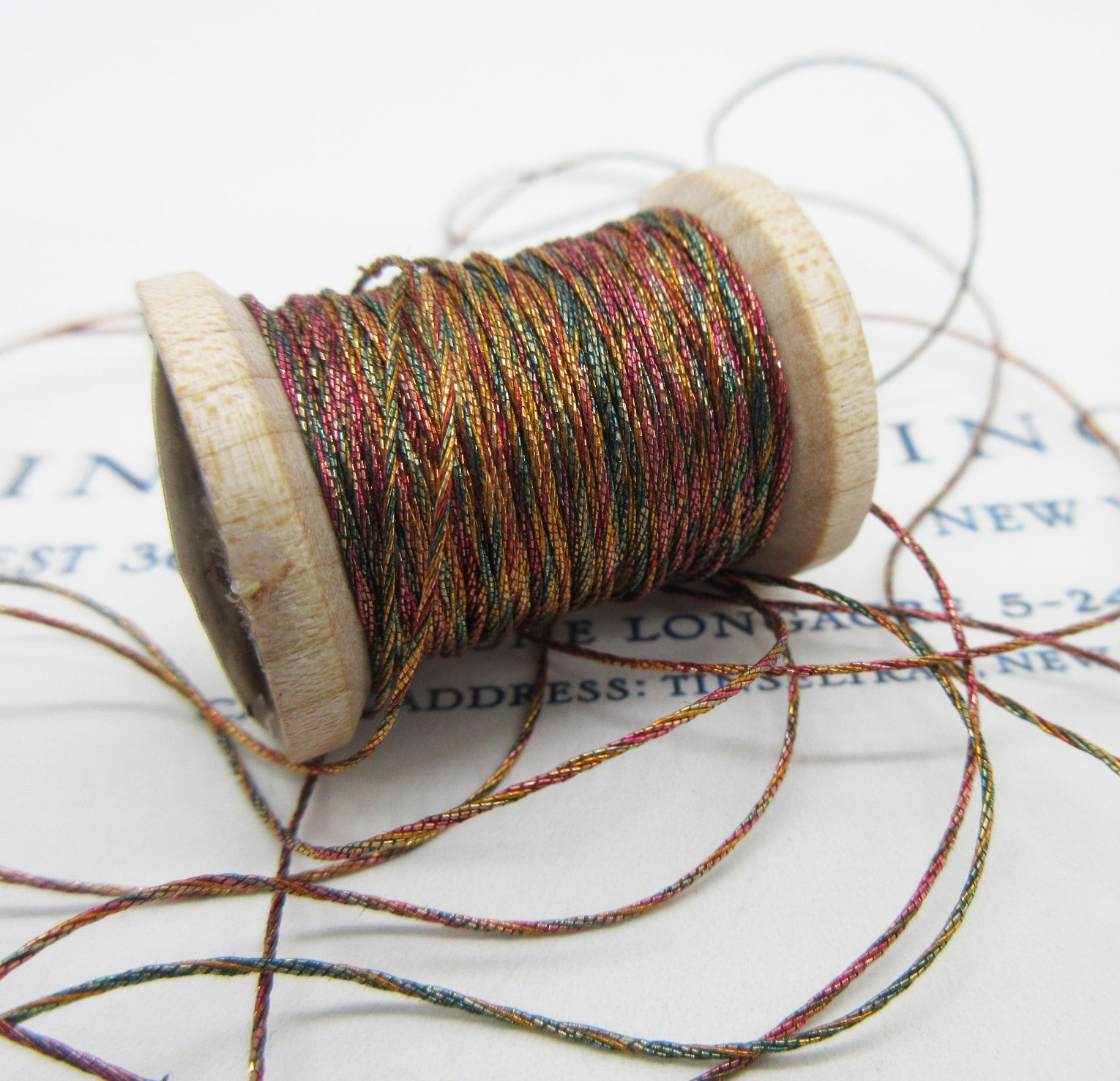 Antique French Metallic Multi Color Twist 4 ply