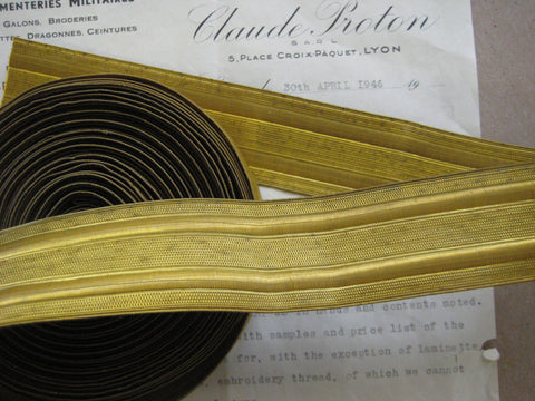 Gold Military Metallic Wire Trim 1 1/2""