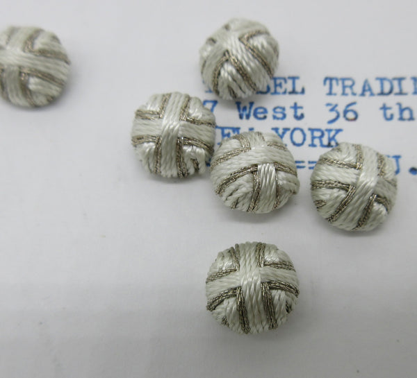 "Metallic/Rayon Twisted thread Button Embellishments - 7/16"" 6 Pcs"