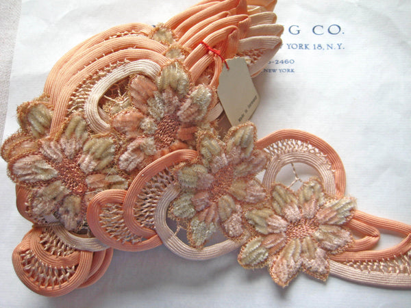 Peach Floral Applique