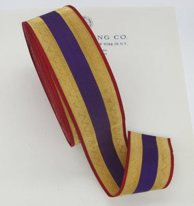 Gold, Purple, and Red Metallic Trim