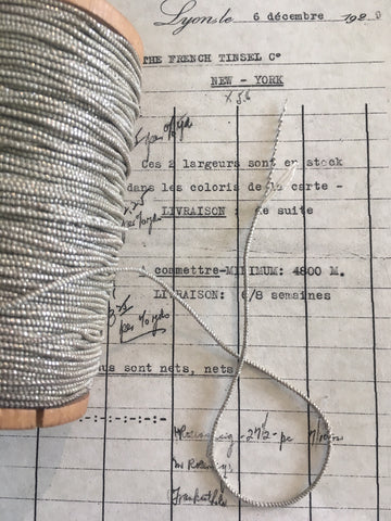 3 Yards Silver Metallic Beadette Cord 1/16""