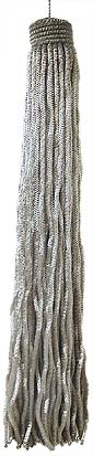 Silver Metal Bullion Tassel - 3 Sizes