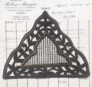 Dark Gold Triangle Applique