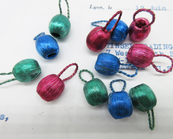 Small Metallic Thread Color Bobbles 4 Pcs