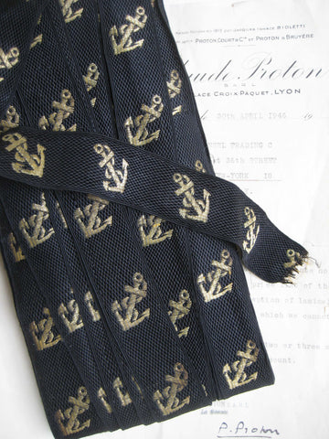 Black w/Gold Metallic Anchors