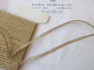 2 Yards Gold Metallic Trim 1/4""