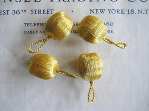 Gold Metallic Round Bobbles