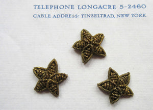 Dark Gold Bullion Stars 3 pcs