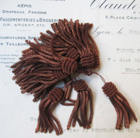 Copper Metal Bullion Tassel 1 5/8""