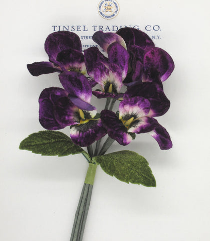 Purple Velvet Pansy Spray