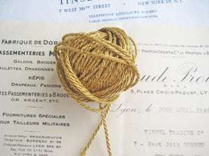 2 Yards Gold Metallic Cord 1/16""