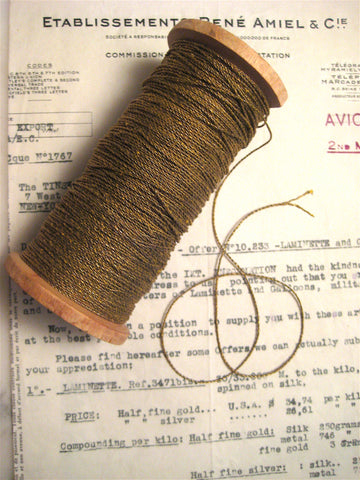 4 Yards Gold Metallic Twine 2 Ply 1/32""