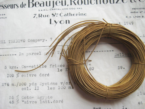 Roll of Gold Pearl Purl Embroidery Bullion Thread