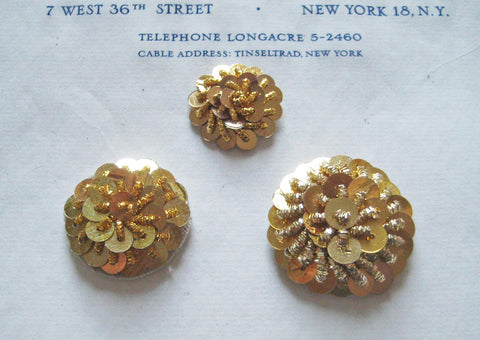Gold Bullion/Sequin Circles - 3 Sizes
