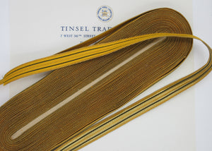 Gold w/2 Black  Stripes Metallic Trim