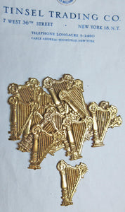 Gold Small Harp Dresden 24 pcs